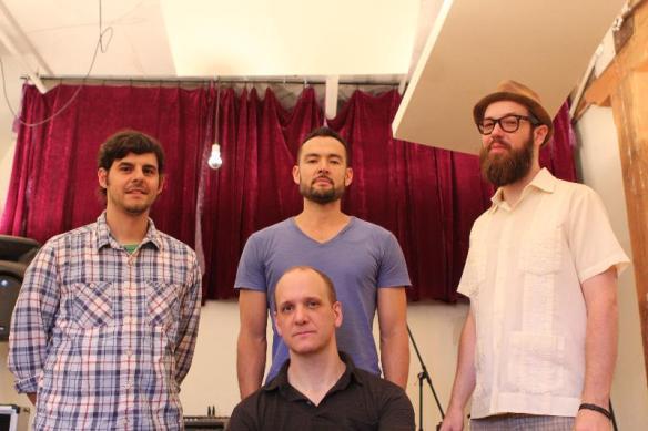 AH-bass, Tomas Fujiwara-drums, Josh Sinton-bari sax, arrangements, Kirk Knuffke-cornet
